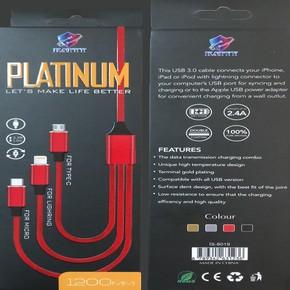 Hızlı Şarj+Data Kablo 2,4 Amp. Lighting Micro Typ C Usb