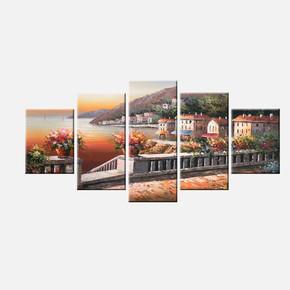5'li Canvas Tablo 75x150 cm