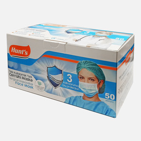 Hunt's 3 Katlı Tek Kullanımlık Telli Cerrahi Maske (50 adet)