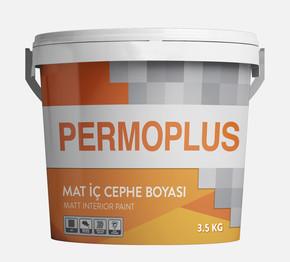 3,5kg Permoplus Mat İç Cephe Boyası Beyaz Permolit
