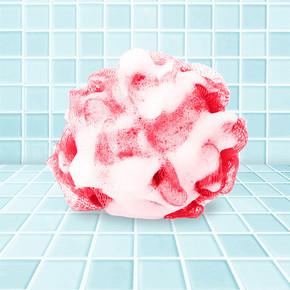 Çilek Sabunlu Banyo Lifi
