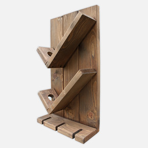 SZN Wood Vinto Şaraplık Ladin-Göknar Kendin Yap 27 x 49 x 11 cm SZN92-Wenge