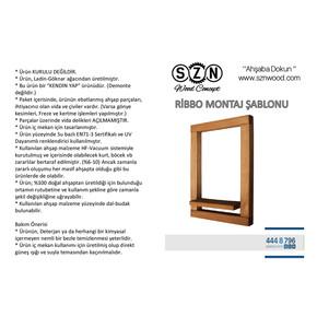 SZN Wood Ribbo Ahşap Raf Ladin-Göknar Kendin Yap 32 x 47 x 9 cm SZN51-Teak