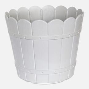 Yuvarlak Balkon Saksısı Beyaz
