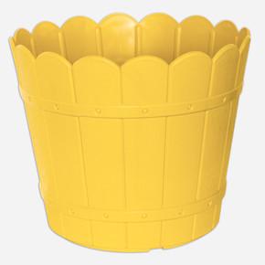 Yuvarlak Balkon Saksısı Sarı