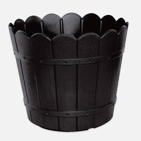 Yuvarlak Balkon Saksısı Siyah