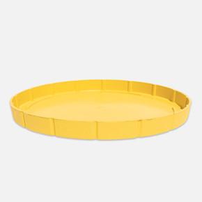 Yuvarlak Balkon Saksı Altlığı Sarı