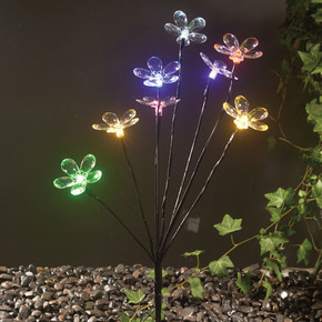 Renkli Ledli Solar Çiçek