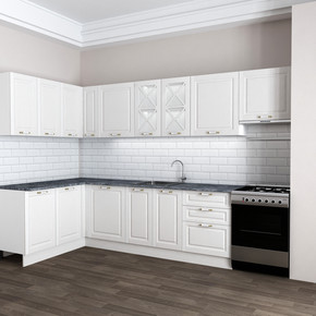 Derin Mutfak 160cm Beyaz Köşe Modül
