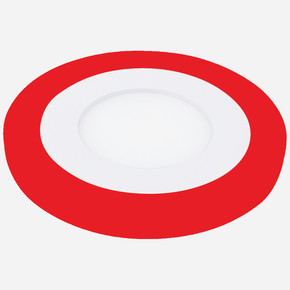 12W+6W Sıvaaltı Led Panel Beyaz Kırmızı