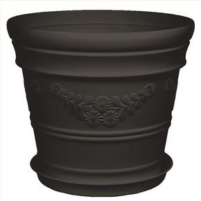 Üçsan Antik Balkon Saksısı Siyah 3lt