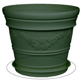 Üçsan Antik Saksı Tabağı Yeşil