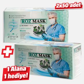 Tek Kullanımlık Telli Cerrahi Maske (100 adet )