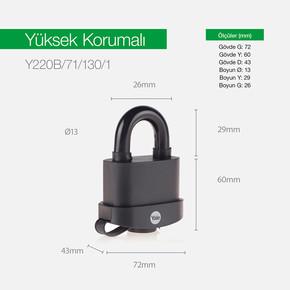 Yale 71mm PVC Kaplamalı Marine Asma Kilit - Blister