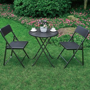 Sunfun Bistro Siyah Masa ve Sandalye Seti