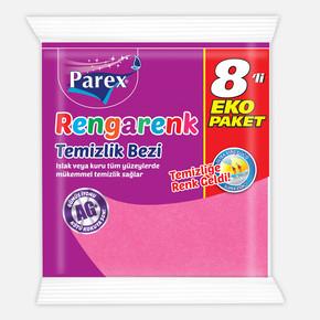 Parex Rengarenk Temızlık Bezı 8 Lı