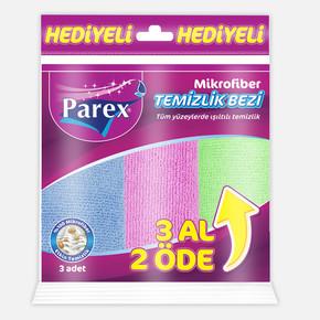 Parex Mikrofiber Temizlik Bezi 3'lü Eko Paket