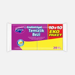 Parex Endüstriyel Temizlik Bez 10+10 Eko Paket