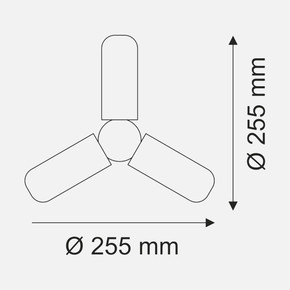 Helios 42W Üç Kollu E27 3200K Led Ampul
