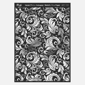 Soft Pirinç Siyah Gümüş Kağıdı