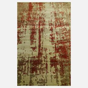 CSN12 Gri-Bej Terra Bambu Halı 165x240 cm