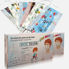 Tek Kullanımlık Telli Çocuk Cerrahi Maske-Erkek