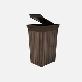 Q-Trash Çöp Kutusu Wood 40 Lt