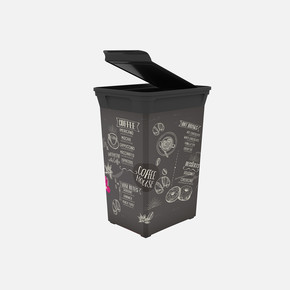 Q-Trash Çöp Kutusu Coffee 40 Lt