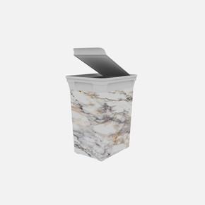 Q-Trash Çöp Kutusu Marble 20 lt