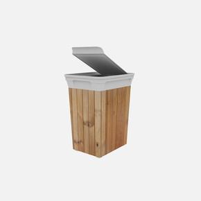 Q-Trash Çöp Kutusu Wood 20 Lt