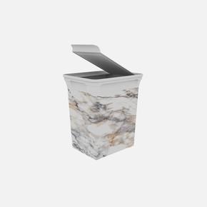Q-Trash Çöp Kutusu Marble 10 Lt