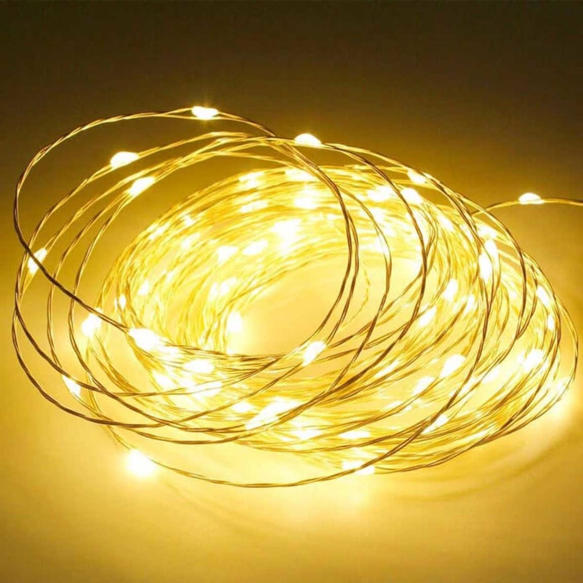 Yılbaşı Peri Led 10 Metre 100 Led Sarı Işık