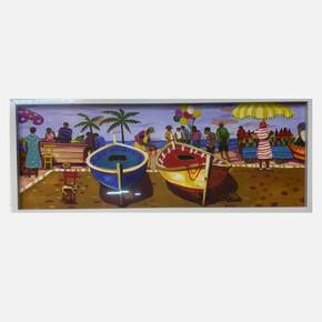 Manzara Resimli Çerçeve 25x65 cm