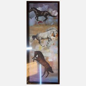 Hayvan Resimli Çerçeve 25x65 cm