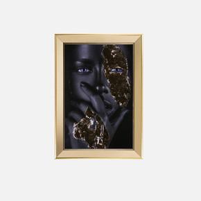 Ayna Çerçeveli İşlemeli Arap Kızı 50x70 cm