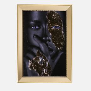 Ayna Çerçeveli İşlemeli Arap Kızı 70x100 cm