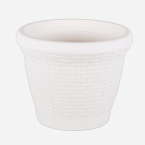 Serinova Hasır Saksı 42 lt Beyaz
