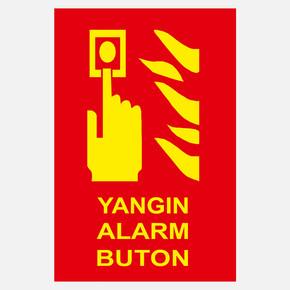 Ekstrafix Yf070 12X25 Fosforlu Yangın Alarm Butonu