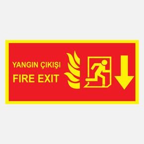 Ekstrafix Yf073 12X25 Fosforlu Yangın Çıkışı