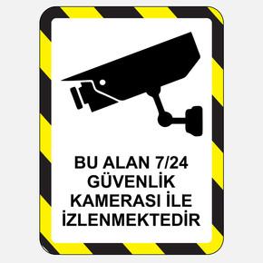 Ekstrafix Yf074 25X35 Fosforlu Güvenlik Kamerası Uyarısı