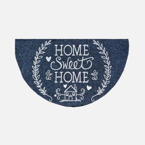 40x75cm Home Sweet Home Grı Boyalı Yarım Ay Paspas