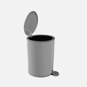 Lenox 5lt Pedallı Çöp Kovası Gri