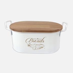 Metal Ekmeklık Kesım Tahtalı Beyaz