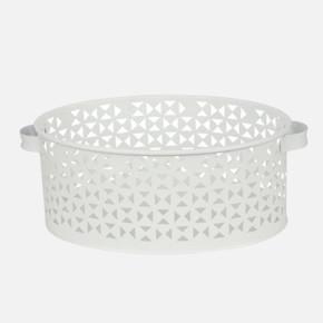 Metal Dekoratıf Sepet Beyaz