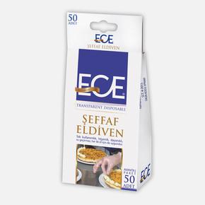Şeffaf Eldiven 50'li