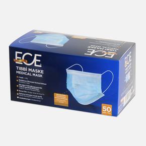 Tek Kullanımlık Telli Meltblown Filtrasyon Kumaş Cerrahi Maske (50 adet)
