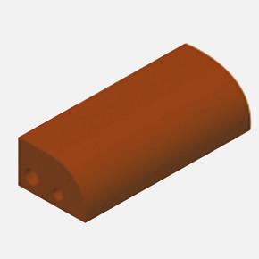 Pres Ç.Daire Naturel Tuğla Ot3 Kırmızı 21,5x10,2x6,5 cm