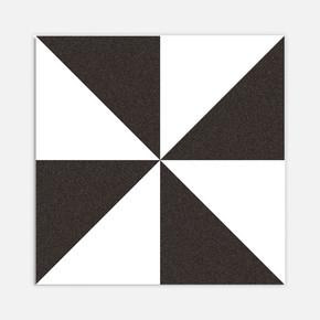 Breda Siyah Beyaz 20x20 cm