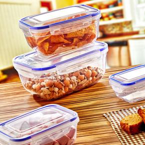 4'lü Contalı Gıda Saklama Seti Dikdörtgen