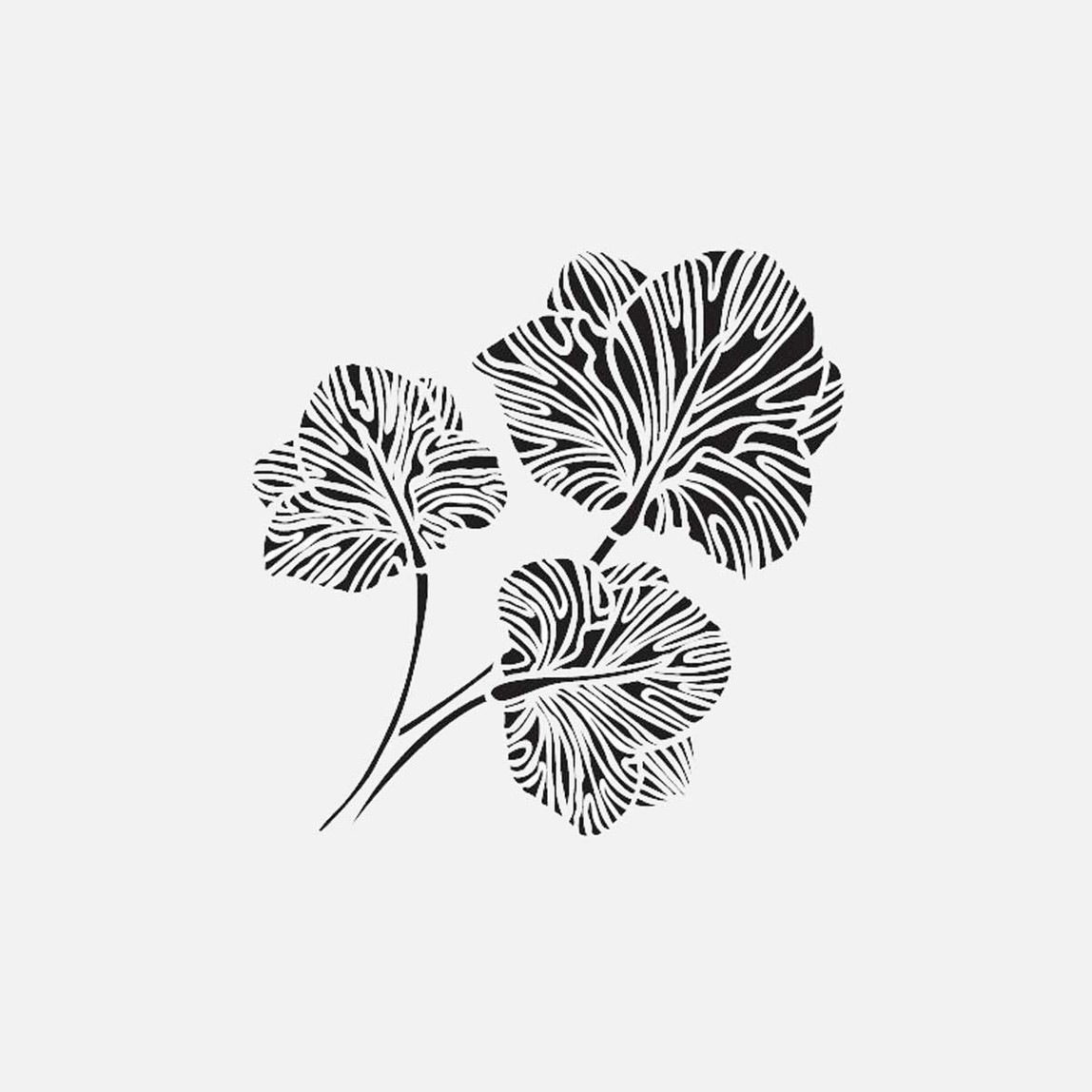 22X22Cm Zen Bahçeleri Happa Stencil